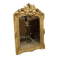 Antique Period Regence Mirror from France, Circa 1715