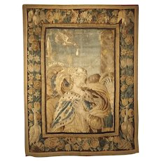 17th Century Tapestry Fragment with Ornate Border