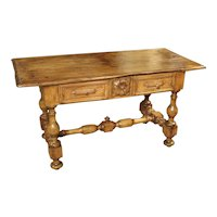 17th Century Basque Country Writing Table with Inset Star