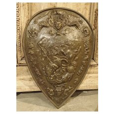Early 1900s Cast Iron Parade Shield from France