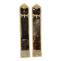 Pair of Full Length French 19th Century Louis XV Style Pier Mirrors