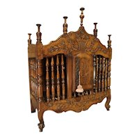 18th Century Carved Walnut Wood Panetiere from Provence, France