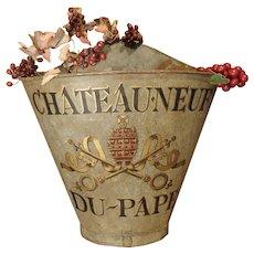Antique Chateauneuf Du Pape Grape Harvesting Hotte