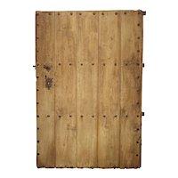 Large 18th Century Oak Plank Spanish Door with Wrought Iron Nailheads