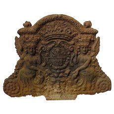 Unusual Antique French Fireback from the 1700's