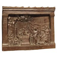 Impressive Bronze Plaque of a Classical Scene, 19th Century