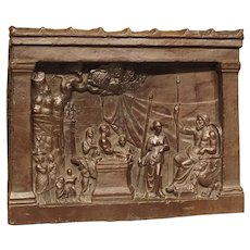 19th Century Bronze Plaque, The Legend of Gaius Mucius Scaevola