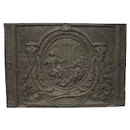 A Large and Rare Period Louis XIV Fireback from France