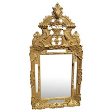 Louis XIV Style Giltwood Mirror from France