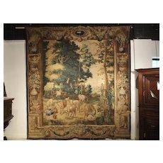 A Rare 17th Century Brussels Tapestry by Ian Van Leefdael