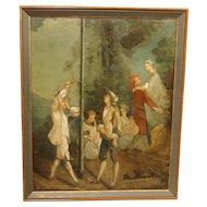 "19th Century French Oil Painting after Nicolas Lancret, ""La Jeunesse"""