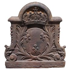 Arms of France, 19th Century Cast Iron Fireback