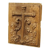 Small Carved Fruitwood Tabernacle Panel from France, Circa 1700