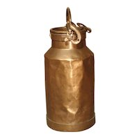 Antique French Copper Milk Container, Late 19th Century