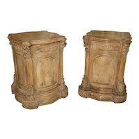 Pair of Carved French Regence Style Pedestals