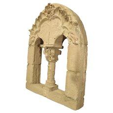 French Faux Stone Neo-Roman Style Window Theater Decor