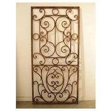 Forged Antique Iron Gate from France, 19th Century