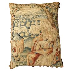 17th Century Tapestry Pillow from France