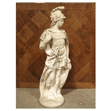 Composition Stone Statue of a Roman Soldier, 1900's