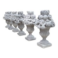 Italian Recomposed Limestone Fruit and Flower Vases (Sold Individually)