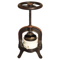 Antique French Fruit or Wine Grape Press, Circa 1910