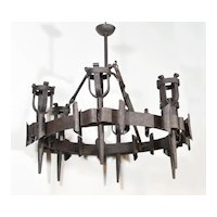 Antique French Torchere Chandelier, Circa 1900