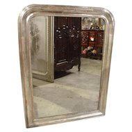 Antique Silverleaf Louis Philippe Mirror from France, 19th Century