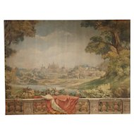 Large Antique Boiserie Painting, Chateau Chambord, Germain Detanger 1893