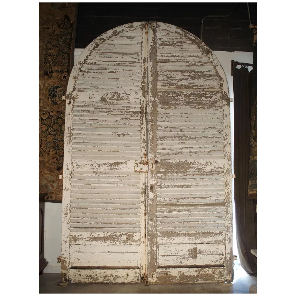 Pair Of Large Antique French Door Shutters From A Chateau 19th Century