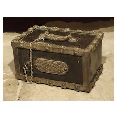 """Antique Bauche """"Incombustible"""" Cast Iron Safe from Northeastern France, Circa 1870"""