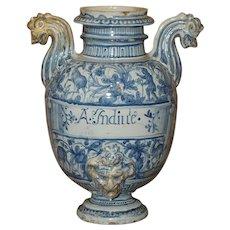 18th Century Italian Faience Fountain Body from Liguria