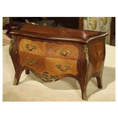 Miniature Antique Louis XV Style Chest of Drawers from France, Circa 1910