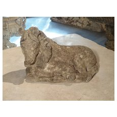 Small Decorative Ponies Statue of Reconstructed Stone from France