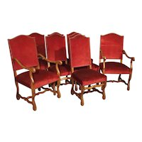 Set Of 8 Antique Os de Mouton Dining Chairs With Square Peg Construction, Circa 1900