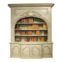 A Stunning Painted Bibliotheque Enfilade from a Chateau near Lauragais, France