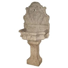 Carved Marble Wall Fountain from Veneto Italy