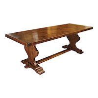French Oak Monastery Style Dining Table from Normandy