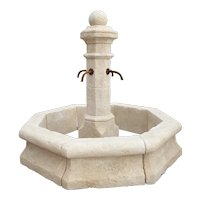 Carved Limestone Center Village Fountain from Provence, France