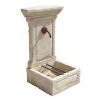 Small Limestone Wall Fountain from Provence, France