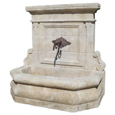 Limestone Wall Fountain from The Vaucluse, Provence France