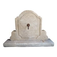 Carved French Limestone Fountain Wall from Provence