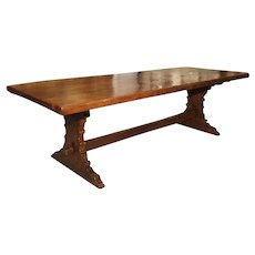 Antique Oak Dining Table from Italy, 19th Century