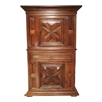 Louis XIII Style Diamond Point Homme Debout Cabinet from France