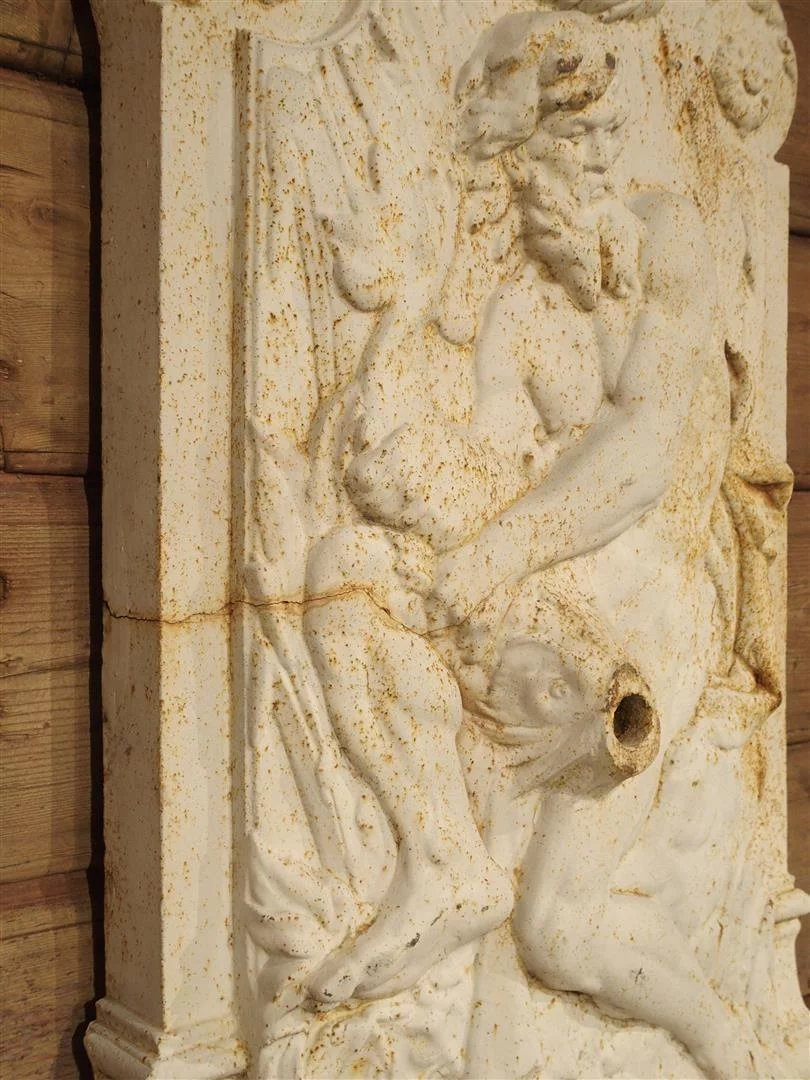 Antique Cast Iron Neptune Wall Fountain from France : Le Louvre ...