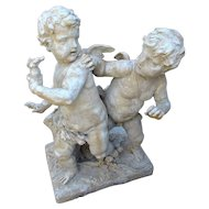 Cast Stone Cupids Statue from France