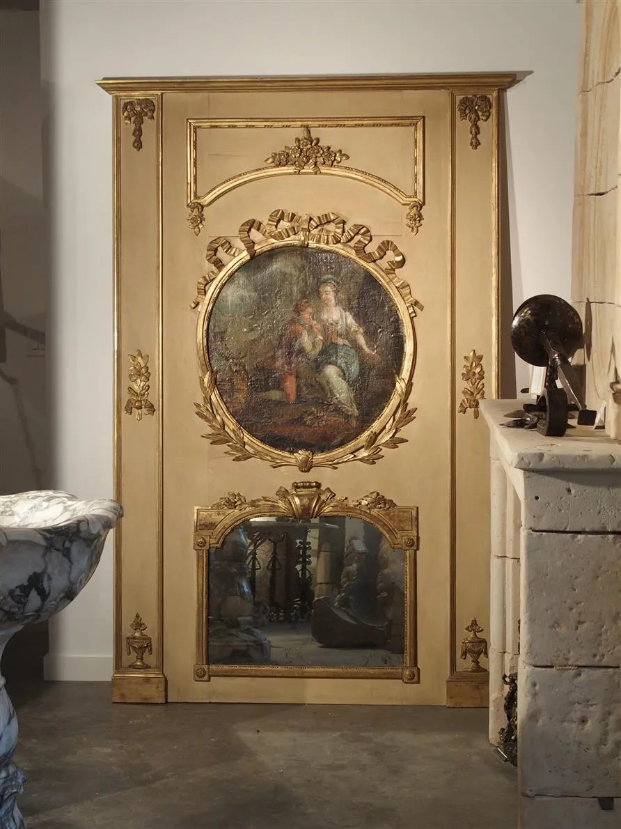 Napoleon Iii Trumeau Mirror Le Louvre French Antiques