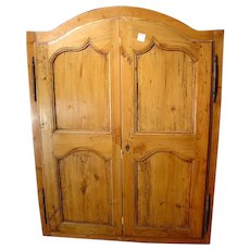 Pair of Small French Cabinet Doors, Late 1800's