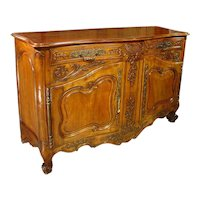 A Large 19th Century Walnut Wood Buffet from Provence, France