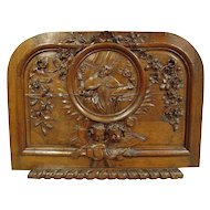 18th Century French Hand Carved Oak Relief Panel of St. Augustine