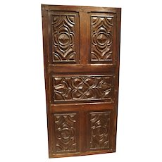 17th Century Carved Walnut Door from the Languedoc Region of France